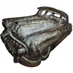 Kovový obraz 45x97 Modré auto