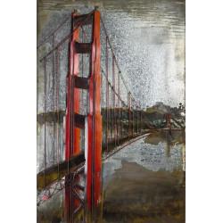 Kovový obraz 80x120 Golden Gate Bridge
