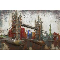 Kovový obraz 80x120 Tower Bridge