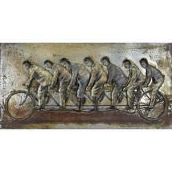 Kovový obraz 140x70 Cirkusanti