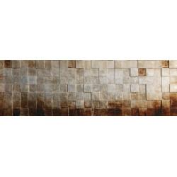 Kovový obraz 56x100 Strieborné Kocky