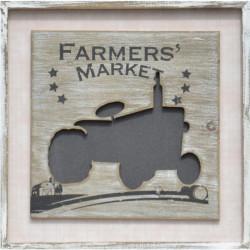 Plechové a drevené obrazy 40x40 Market