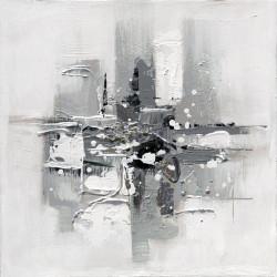Maľovaný originál 30x30 Šedý minimalizmus 1