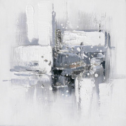 Maľovaný originál 30x30 Šedý minimalizmus 2