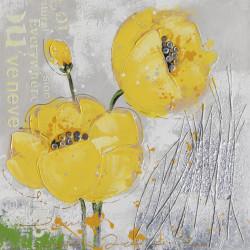 Maľovaný originál 60x60 Žltý mak 2