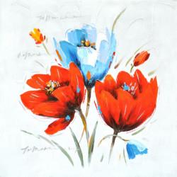 Maľovaný originál 60x60 Lupene 2