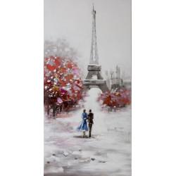 Maľovaný originál 60x120 Dvaja v Paríži