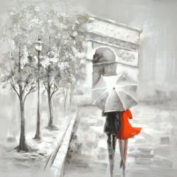 Maľovaný originál 80x80 Prechádzka
