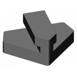 Čierna prítlačná guma na tvrdé drevo