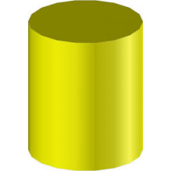 Žltá 45mm guma na mäkké drevo