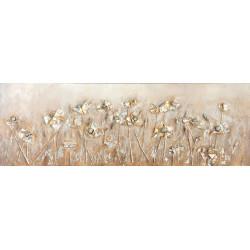 Maľované originály 50x150 Zlatá roľa