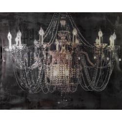Maľovaný orignál 80x100 Starožitnosť