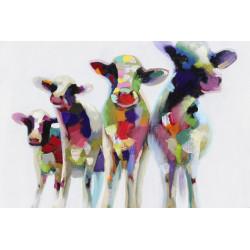 Maľovaný originál 80x120 Fauvistické zvery 1