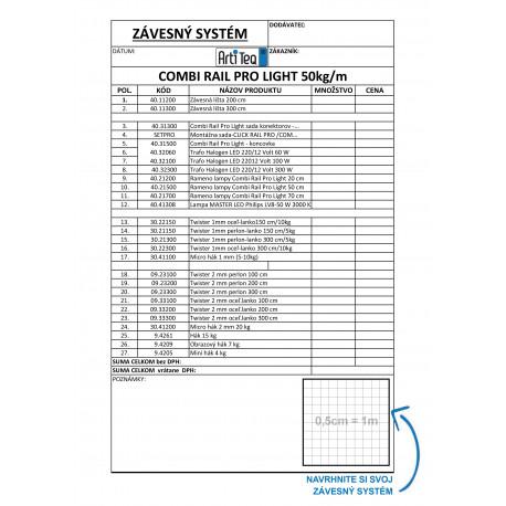 COMBI RAIL PRO LIGHT - objednávaci formulár