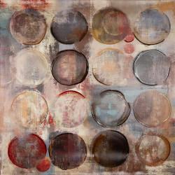 Maľovaný Originál 100x100 Kruhy