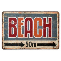 Plechová ceduľa 20x30 Pláž