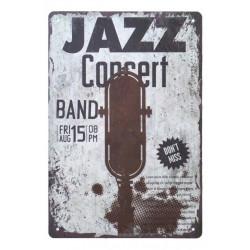 Plechová ceduľa 20x30 Jazz