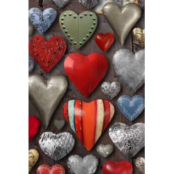 Obraz na plátne 30x40 Metalické srdcia