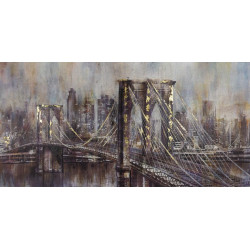 Maľovaný originál 140x70 Brooklyn Bridge