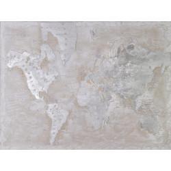 Maľovaný originál 90x120 Mapa sveta