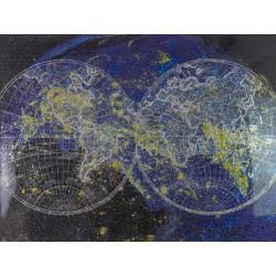 Maľovaný originál 90x120 Paralelný vesmír