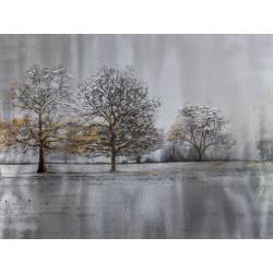 Maľovaný originál 90x120 Zima