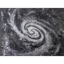 Maľovaný originál 90x120 Vesmír