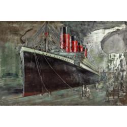 Kovový obraz 120x80 TITANIC