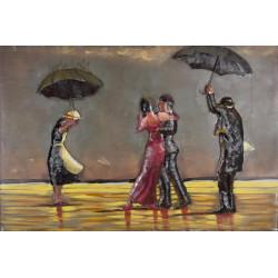 Kovový obraz 120x80 Tango na pláži