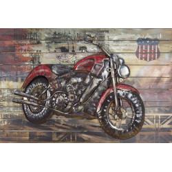 Kovový obraz 120x80 Motorka