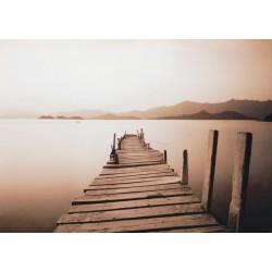 Obraz na plátne 50x70 Most na jazere