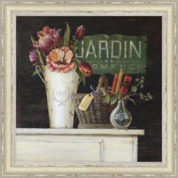 Rámovaný obraz 40x40cm Jardin