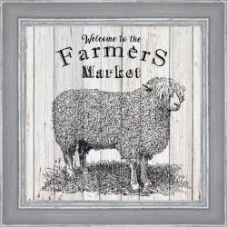 Rámovaný obraz Farmers Market 30x30