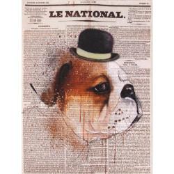 Obraz na plátne 30x40  v novinách I.