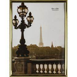 Kovový fotorám 15x20 zlatý