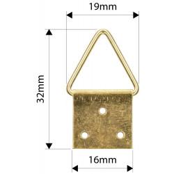 Trojuholníková záves