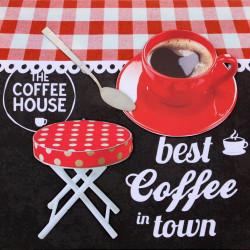 Obraz na plátne 40x40 3D Káva v mojom meste