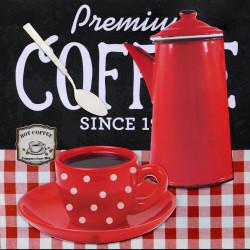 Obraz na plátne 40x40 3D Káva Prémium