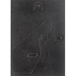 Zadná stena 9x13 vysekávaná čierna lakovaná