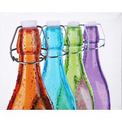 Obraz na plátne 40x50 Farebné fľašky 1