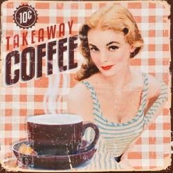 Obraz na plátne 40x40 Coffee Lady II.