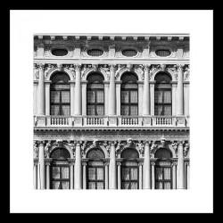Č.B. rámovaný obraz 40x40