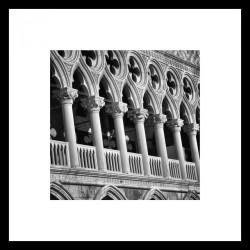 Č.B. rámovaný obraz 50x50