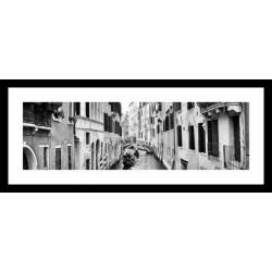 Č.B. rámovaný obraz 25x60