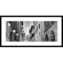 Č.B. rámovaný obraz 40x80