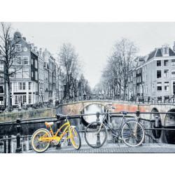 Obraz na plátne 60x80 Žltý bicykel