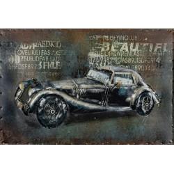Kovový obraz 60x40 Old Car