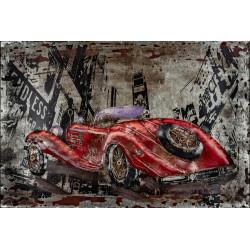Kovový obraz 60x40 Old red Car