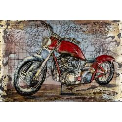 Kovový obraz 60x40 Motorka