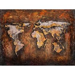 Kovový obraz 80x60 Mapa sveta